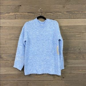 RD Style Blue Knit Crew Neck Sweater NWT